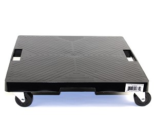 16' Square Plant Dolly With Handle- Black